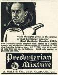 Presbyterian Mixture ad from 1938