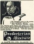 Presbyterian Mixture ad from 1938