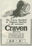 A 1918 ad for Craven Mixture