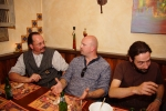Jorg, Ed and a slightly intoxicated (?) Sander at the restaurant © K.H. van der Linde