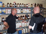 Andreas Mund and me before shelves full of concentrated flavours