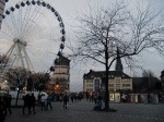 Ferris wheel, Schlossturm and on the background the St. Lambertus church