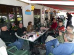 The group at the café terrace in Boullion