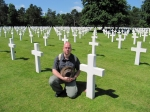 Me paying respect to the fallen at the Normandy American Cemetery and Memorial