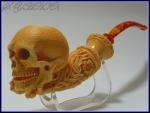 Skull-pipe by Sadik Yanik