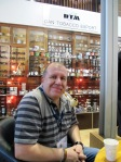 Fred at the Dan Tobacco stand