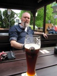 Rob at the beer garden