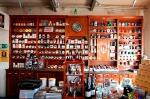 Part of the Dan Pipe shop interior