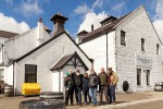 In front of the Dalwhinnie distillery