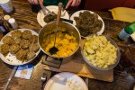 Haggis with neeps and tatties, yummie!
